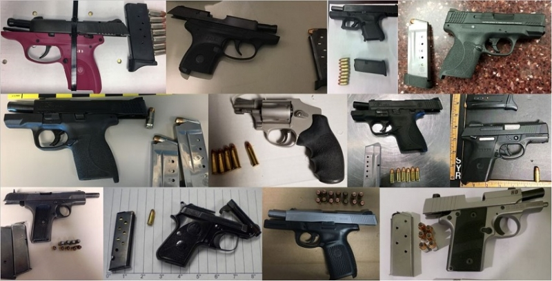 TSA discovered 66 firearms over the last week in carry-on bags around the nation. Of the 66 firearms discovered, 57 were loaded and 24 had a round chambered.