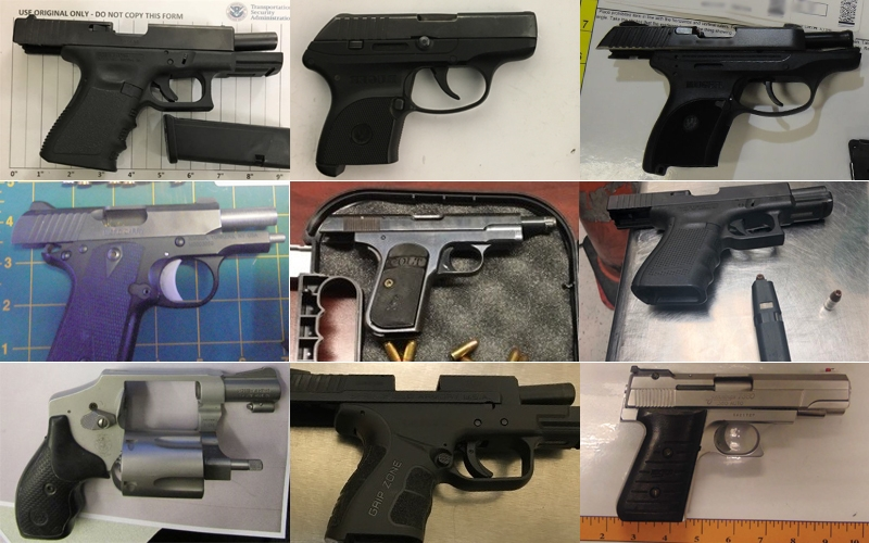 Firearms discovered by TSA from December 1 to 9