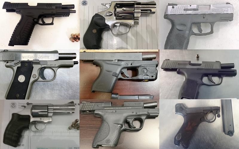 guns discovered at TSA checkpoints