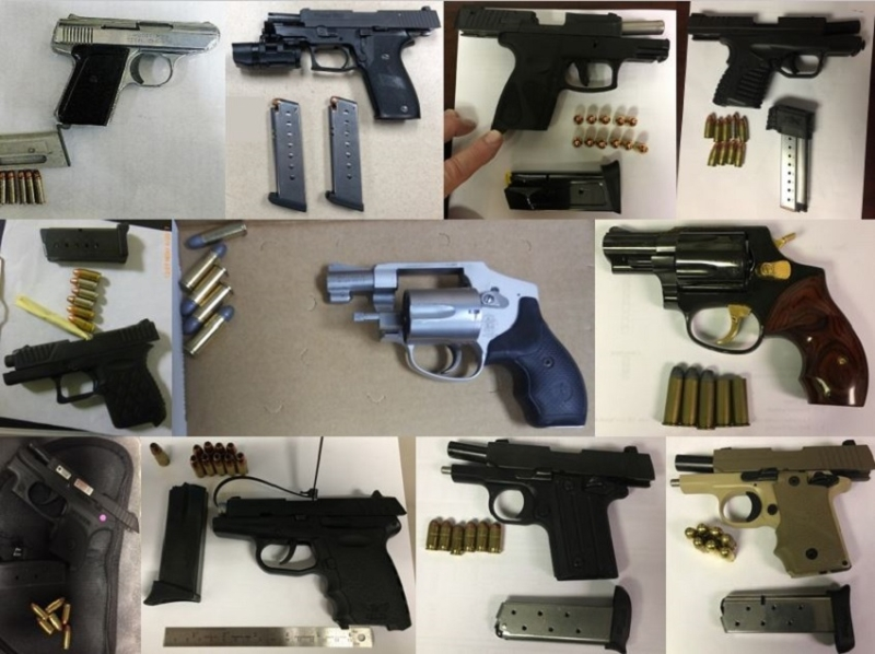 TSA discovered 63 firearms over the last week in carry-on bags around the nation. Of the 63 firearms discovered, 58 were loaded and 23 had a round chambered.