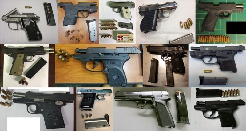 TSA discovered 67 firearms over the last week in carry-on bags around the nation. Of the 67 firearms discovered, 55 were loaded and 16 had a round chambered.