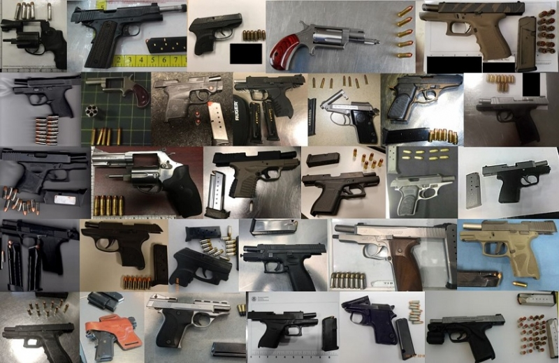 TSA discovered 189 firearms in carry-on bags around the nation from August 6th through the 20th. Of the 189 firearms discovered, 157 were loaded and 68 had a round chambered.