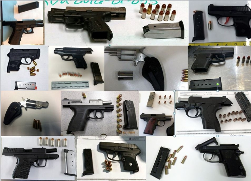 Discovered 46 firearms