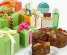 gifts and fruitcake
