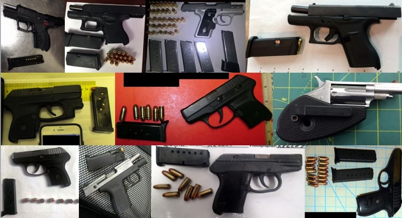 Discovered 55 firearms