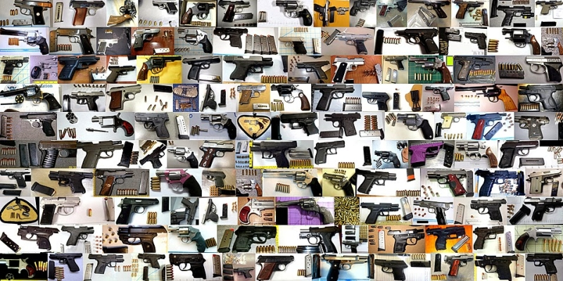 Some of the Loaded Firearms Discovered in Carry-on Baggage in 2013