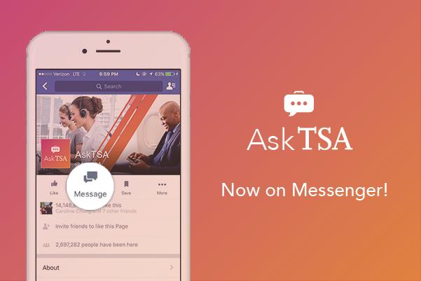 AskTSA Facebook Messenger image