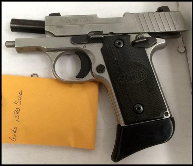 Loaded firearm.