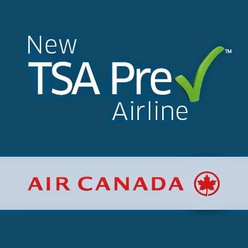 TSA PreCheck and Air Canada Logo