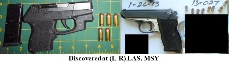 2 loaded firearms.