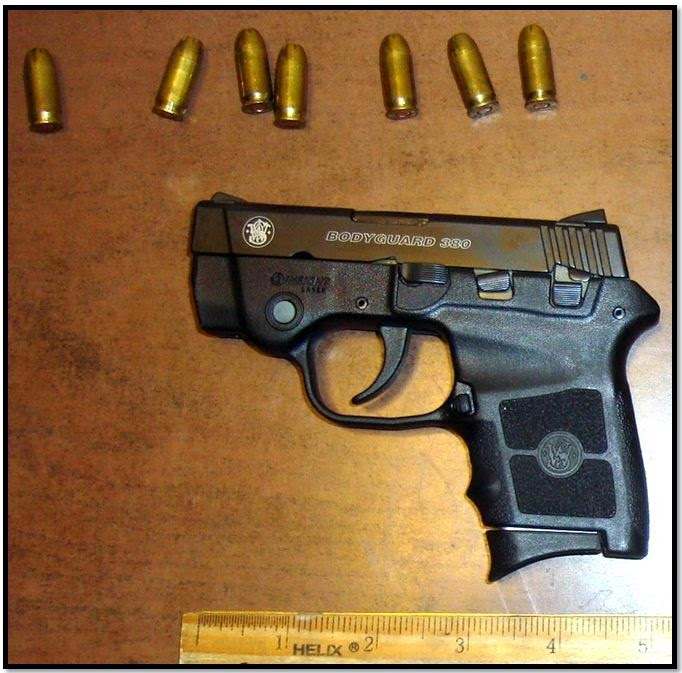 Loaded firearm discovered in carry-on bag at CHS.