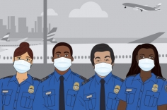 Graphic of four TSA Security Officers in uniform
