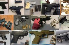 TSA discovered 82 firearms in carry-on bags around the nation last week. Of the 82 firearms discovered, 75 were loaded and 25 had a round chambered.