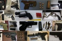 TSA discovered 97 firearms in carry-on bags around the nation. Of the 97 firearms discovered, 77 were loaded and 36 had a round chambered.