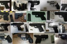 TSA discovered 150 firearms over the last two weeks in carry-on bags around the nation. Of the 150 firearms discovered, 130 were loaded and 47 had a round chambered. Firearm possession laws vary by state and locality.
