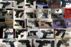 TSA discovered a record breaking 104 firearms in carry-on bags around the nation from February 5th through the 11th. The previous record of 96 firearms was set in July of 2017.  Of the 104 firearms discovered, 87 were loaded and 38 had a round chambered.