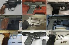 Firearms discovered by TSA