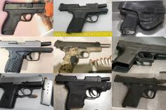 Firearms discovered at checkpoints