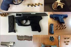 Firearms Discovered in Carry-On Bags