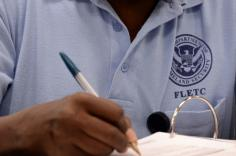 A photo of a new employee was training at FLETC