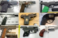 Firearms discovered at the checkpoint