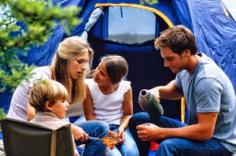 a family camping