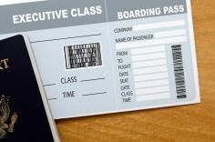 A photo of a U.S. passport and a boarding pass