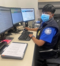 TSA Supervisory Officer Destiny Rockward in her new role on the Leadership Development Team. (Photo courtesy of TSA LAX)