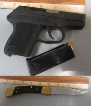 TSA officers at Arnold Palmer Regional Airport prevented a man from bringing this loaded handgun and knife onto an airplane on Thursday.