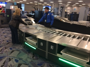 Automated screening lanes come to the security checkpoint in Terminal 3 at Las Vegas McCarran International Airport