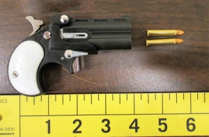 This loaded .22 caliber handgun was detected by TSA officers in a woman's carry-on bag on Sunday, May 12, at Wilkes-Barre/Scranton International Airport.