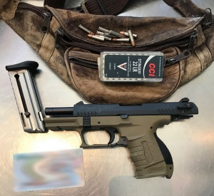 TSA officers caught this loaded handgun at the BDL checkpoint on Thursday.