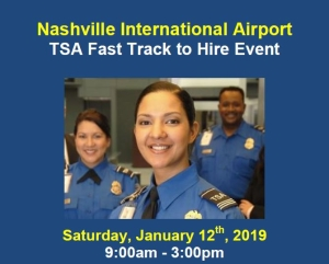 Hiring event at BNA airport Jan. 12, 2019