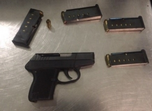This loaded .380 caliber firearm was discovered by TSA officers at Logan Airport Aug. 7. (Photo courtesy of TSA)