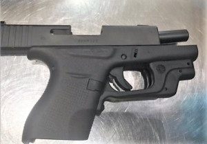 This loaded handgun was spotted by TSA officers at Boston Logan International Airport in the carry-on bag of an Arizona resident on Sunday.