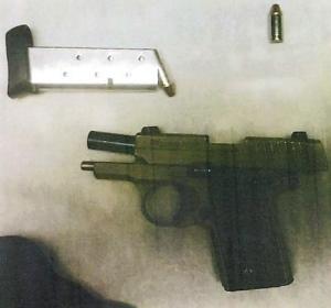 This loaded .380 caliber handgun was detected by TSA officers in a man's carry-on bag Friday, August 4, at Buffalo-Niagara International Airport. (Photo courtesy of TSA.)