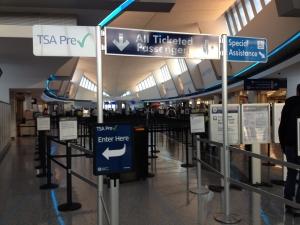 Buffalo Airport security queue
