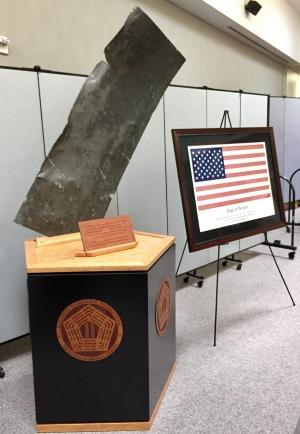 The historic artifact from the World Trade Center terrorist attack on 9-11-01 was unveiled by TSA at BWI Airport. It is on display inside the Terminal C checkpoint.