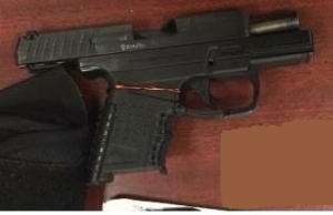 TSA officers prevented a man from bringing this loaded semi-automatic handgun onto an airplane on Wednesday at BWI Airport. (TSA photo)