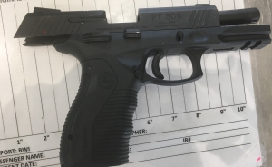 TSA officers at BWI detected this unloaded handgun in a traveler's carry-on bag on May 24.  It was the 14th gun caught at the airport so far this year.