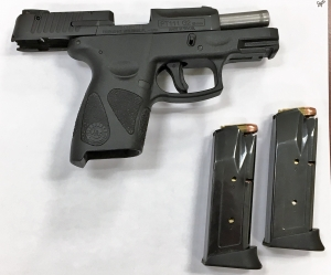 TSA officers prevented a man from bringing this loaded handgun onto an airplane Thursday, July 12 at BWI Airport. (Photo courtesy of TSA.)