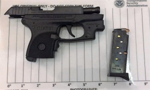 TSA officers prevented a woman from bringing this loaded handgun onto an airplane on Friday at BWI Airport.