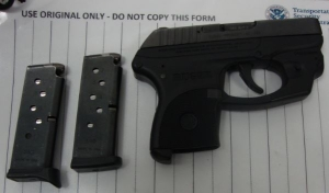 TSA officers prevented a woman from bringing this loaded handgun onto an airplane on Monday at BWI Airport.