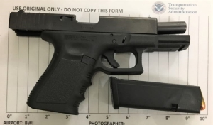 TSA officers prevented a man from bringing this loaded handgun onto an airplane on Monday, December 3, at BWI airport.