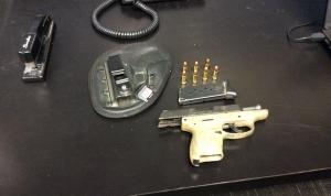 Gun catch at Charlotte Douglas International Airport.