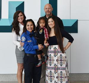 TSA Officer with toddler