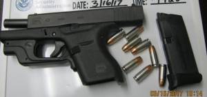 TSA officers detected this loaded handgun in a Huntington, WV, man's carry-on bag on Thursday, March 16.