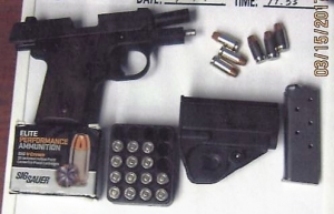 A man brought this loaded .380 caliber handgun to the Yeager Airport checkpoint on Wednesday, March 15.