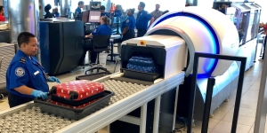 The new CT scanner is located in Concourse C at BWI airport. (TSA photo)