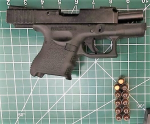 TSA officers at DCA Airport detected this loaded handgun in a traveler's carry-on bag Feb. 20. It was the sixth gun caught at the airport in the first eight weeks of the new year. The man was cited by police. (TSA photo)